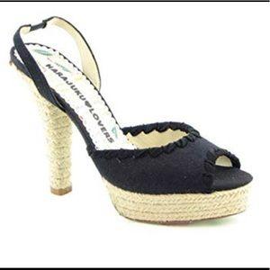 Harajuka Lovers espadrille style heels